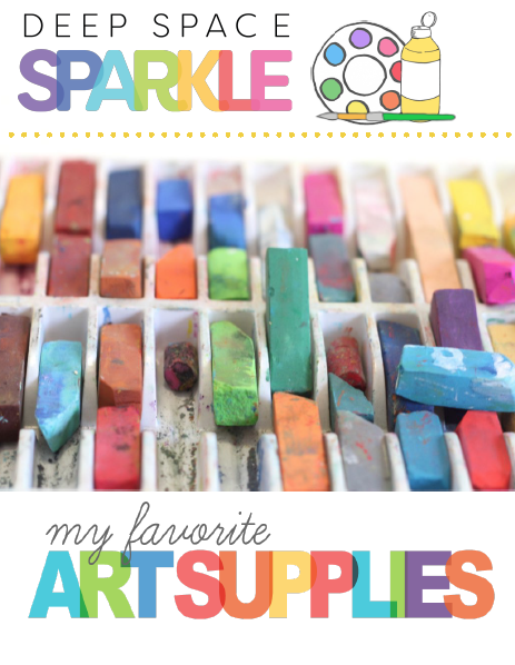 Draw, Paint, Sparkle Favorite Art Supplies